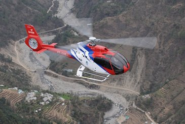 AG真人计划' light single-engine helicopter H130 handles high-volume flights to India鈥檚 sacred temples