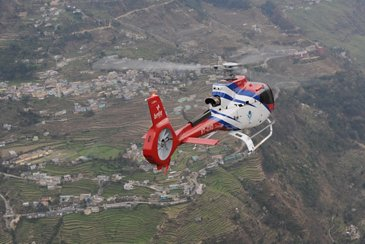 GVHL's H130 in flight over India
