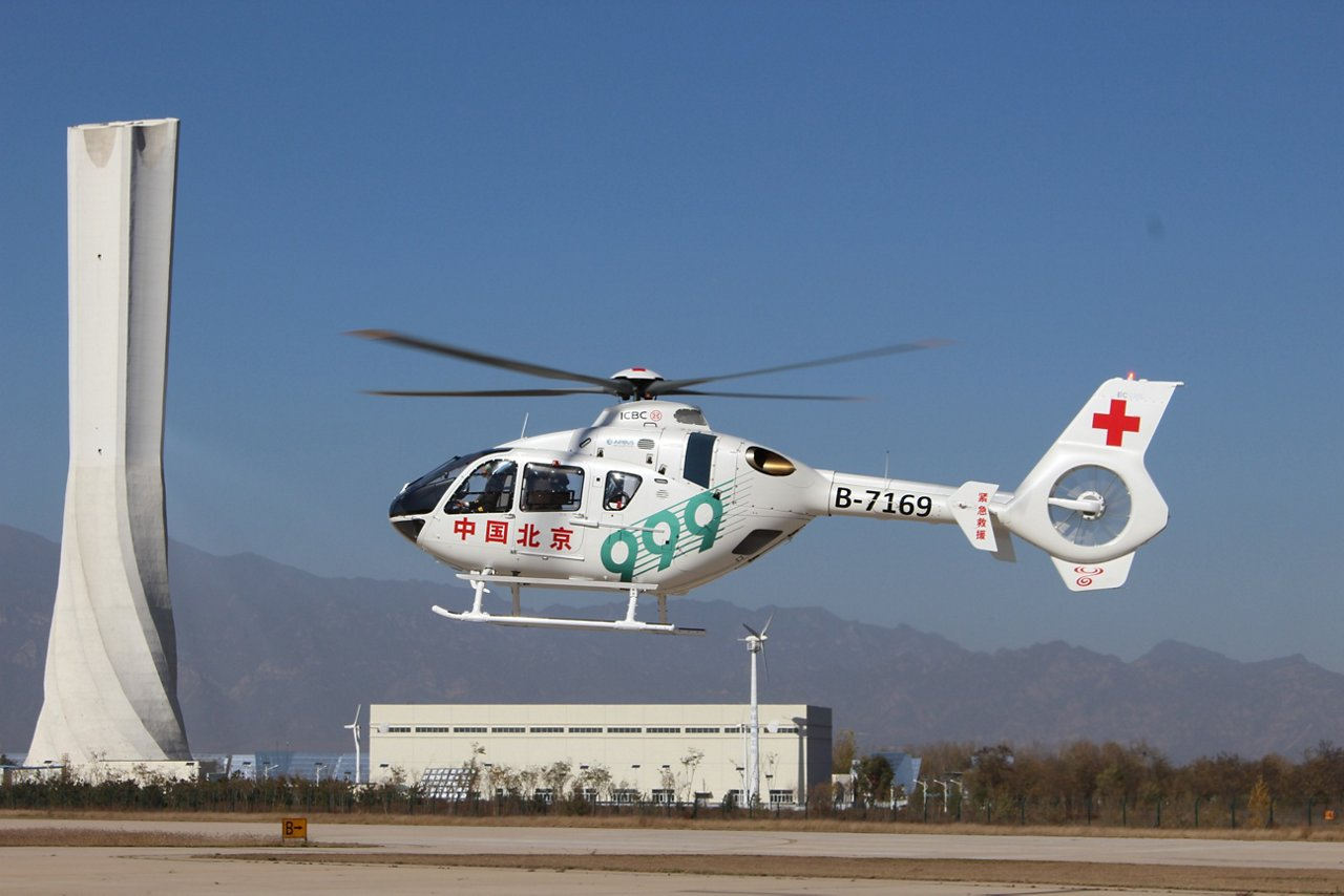 Beijing 999 which operating HEMS configuration H135 in China