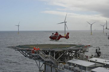 HTM's H135 accessing wind farm
