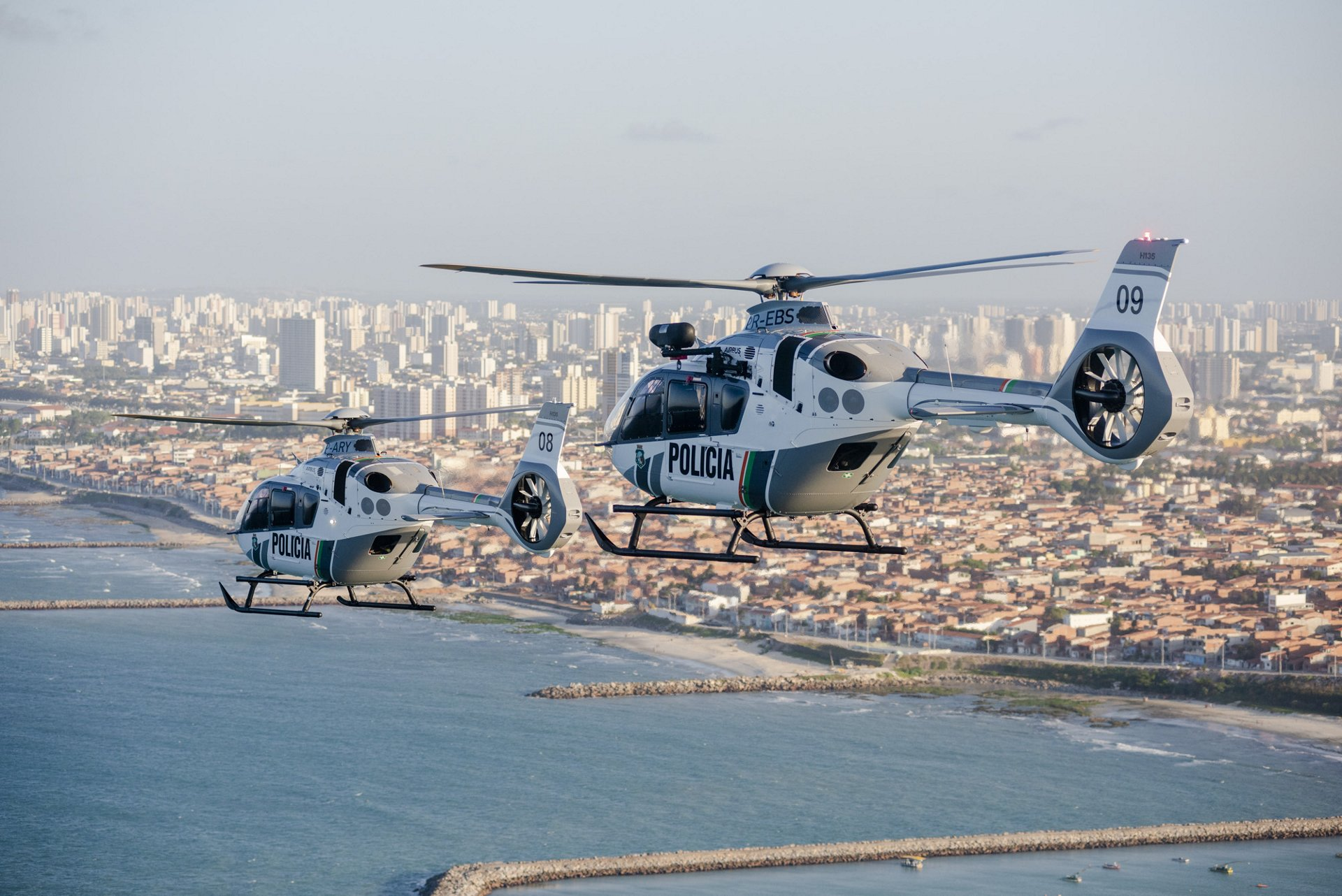 The two delivered helicopters will be used to reinforce public security in Ceará State, as well as providing support for aeromedical operations in other regions of the state.