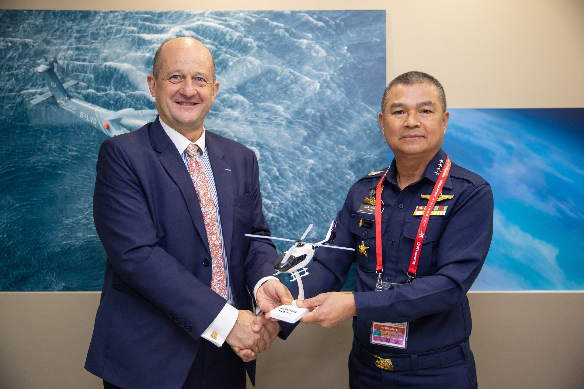 Airbus Helicopters has signed an order for six H135 military training helicopters from the Royal Thai Air Force