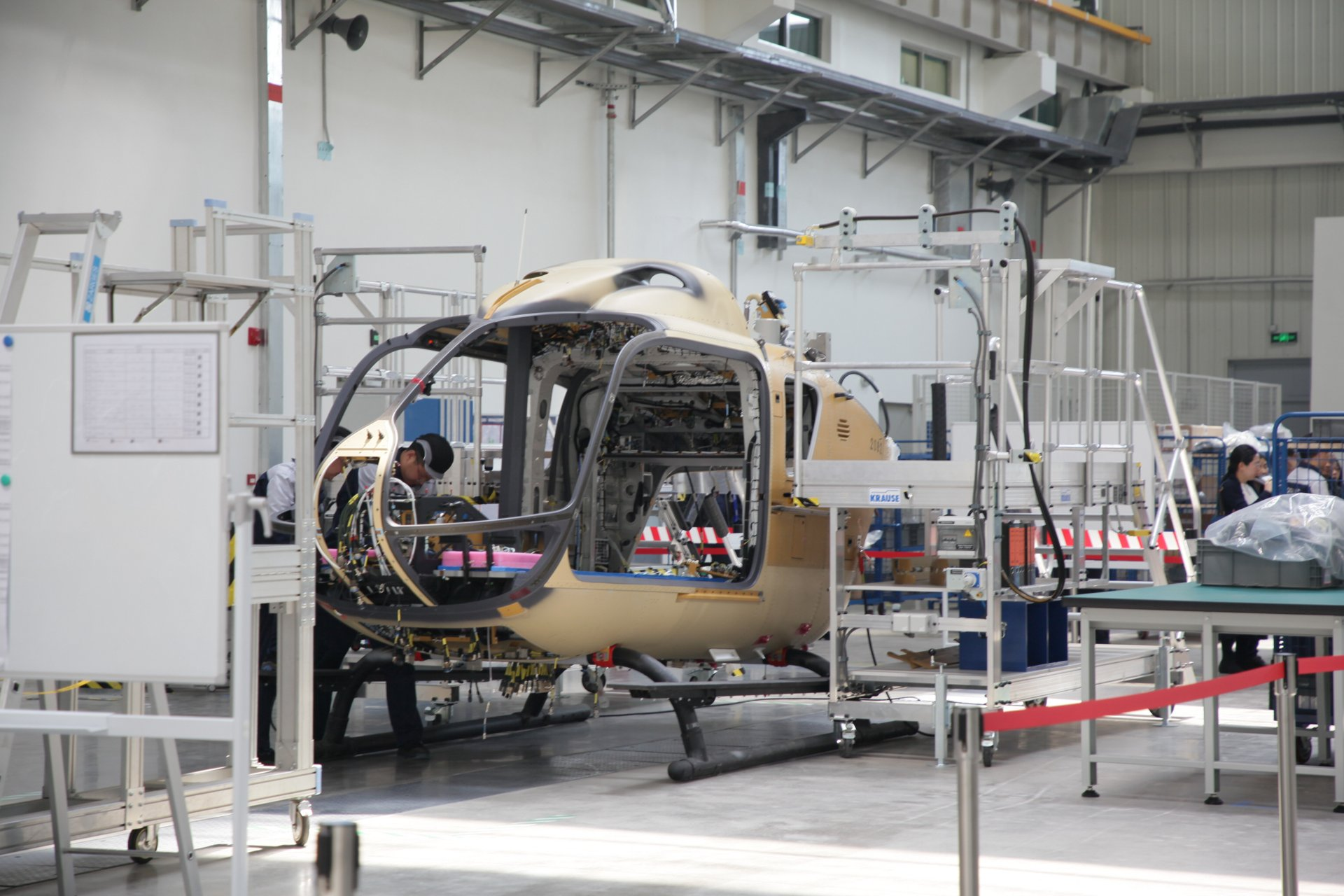 China's Airbus H135 final assembly line starts operations