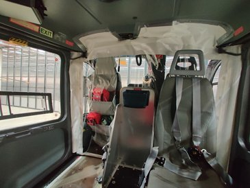Heli Austria's cabin cockpit separation