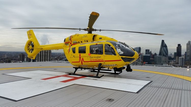 UK's first H145 saves lives with East Anglian Air Ambulance