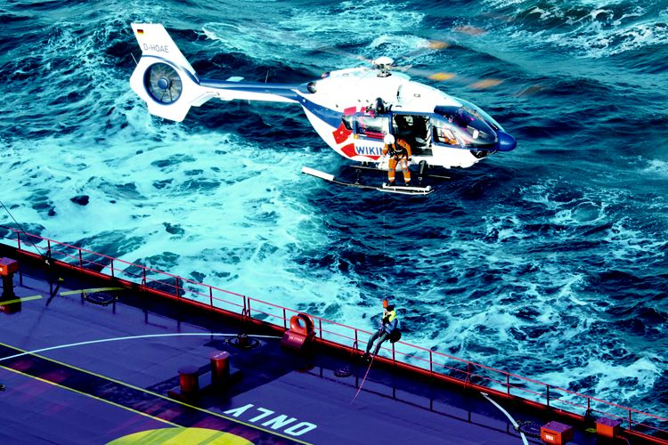 Wiking Helikopter Service H145 in action