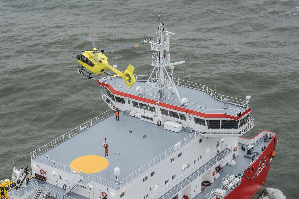 Airbus Helicopters' H145 demonstrates its ability to perform offshore missions