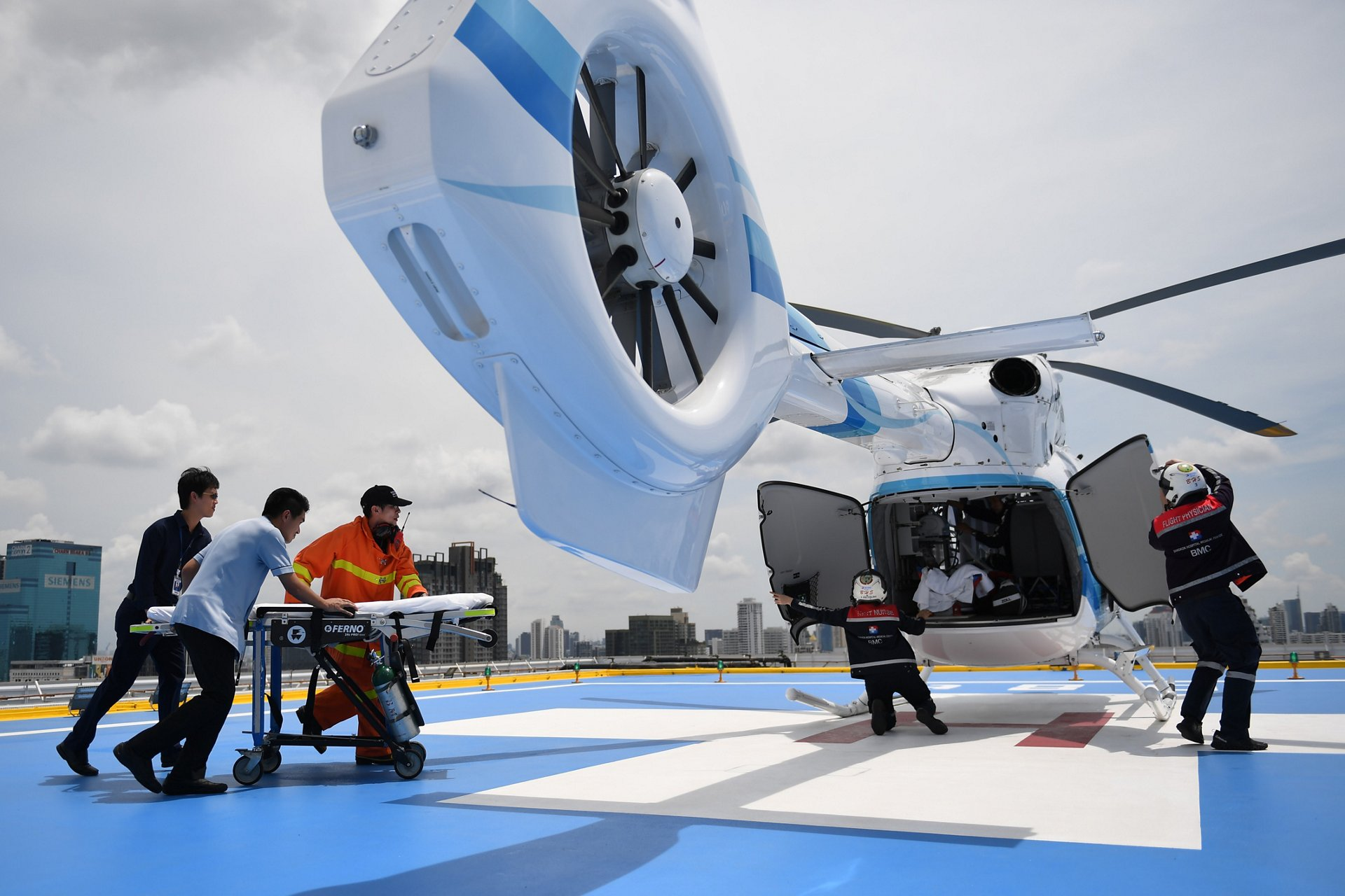 In Thailand, Bangkok Helicopter Services Company Ltd (BHS) manages its cost of operation by contracting with Bangkok Hospital to provide HEMS services using two H145s