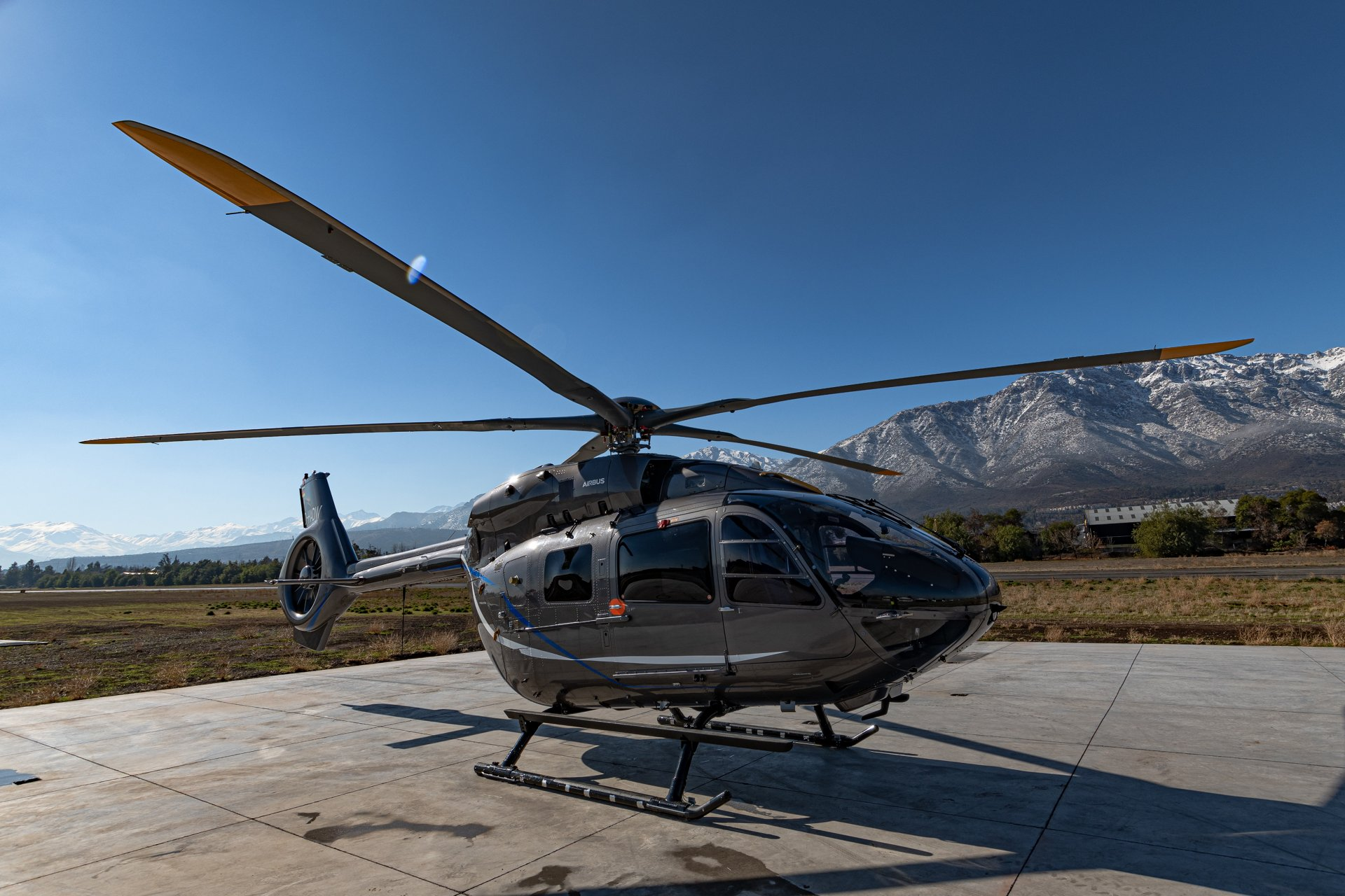 The prototype of the five-bladed H145, which Airbus Helicopters unveiled at Heli-Expo in Atlanta last March, has just arrived in Chile where the aircraft will start a high altitude flight campaign. EASA certification is expected in early 2020, with deliveries following later that year.