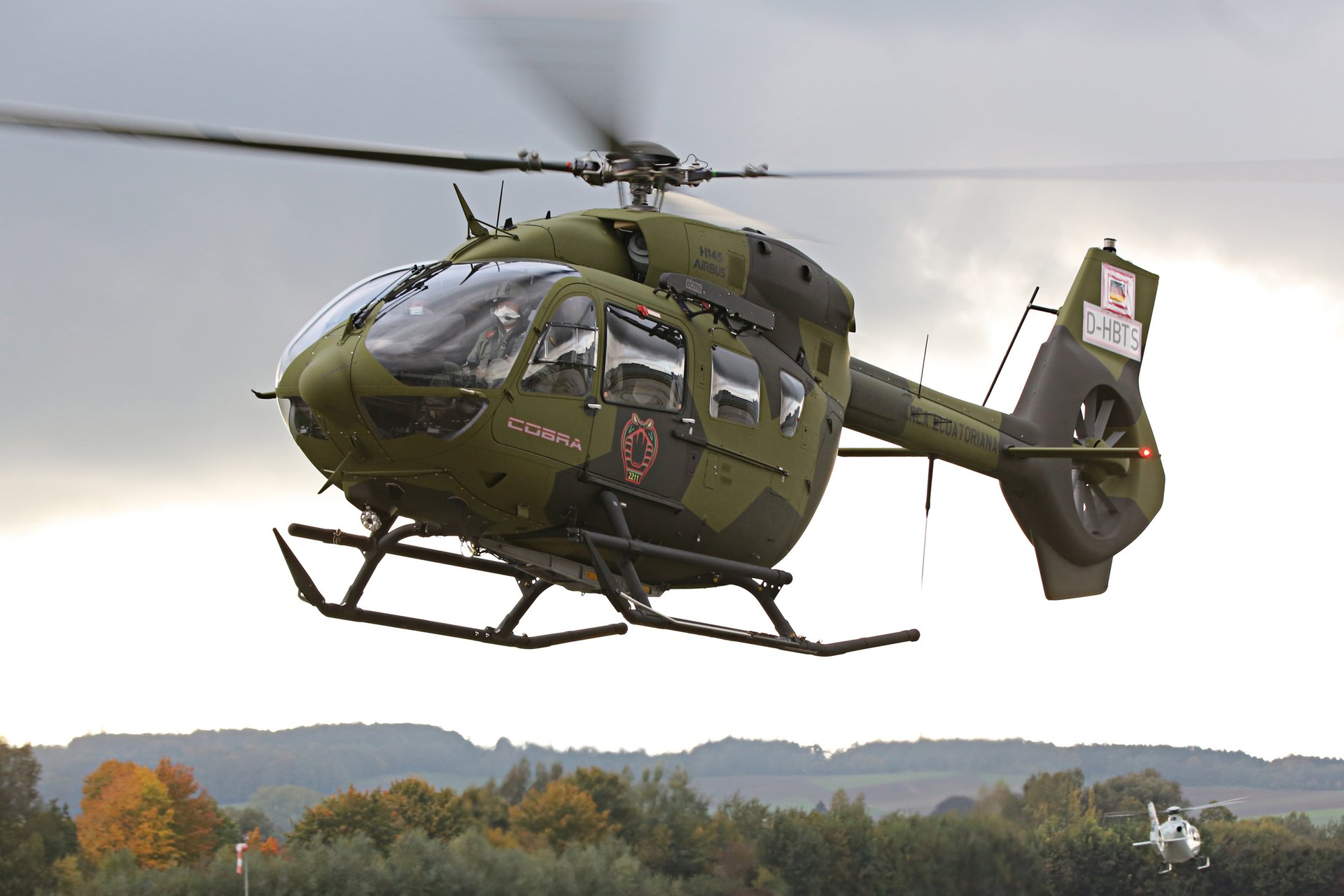 "The Ecuadorian Air Force's first two H145 rotorcraft – known as ""Cobra"" in the Ecuadorian Air Force – were delivered by Airbus Helicopters in October 2020; they will be deployed for national security missions, high-altitude rescue operations, medical evacuations, and disaster relief"