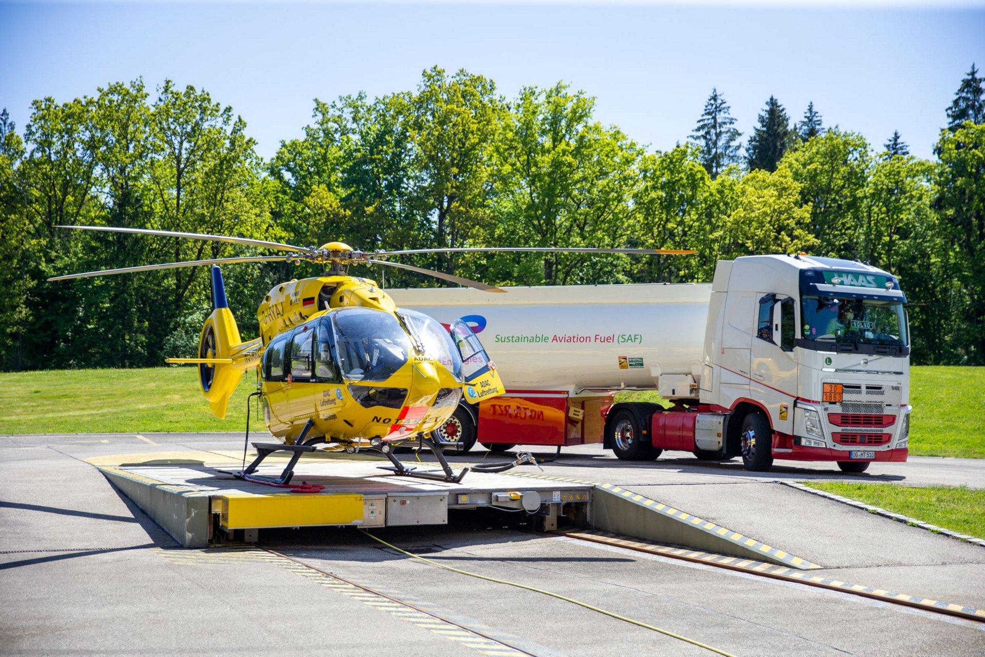救援直升机首次在可持续的航空燃料(SAF)上飞行,实现了国际航空的新里程碑。