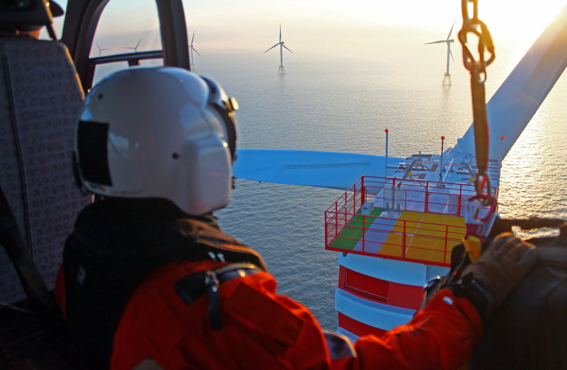 Wiking Helikopters has bases in: Mariensiel, Emden, Husum (Germany), Great Oakley (UK), Wick (UK), Beccles (UK), Visby (S), Bornholm (DK), Helsinki (FI), Den Helder, Eemshaven (NL)