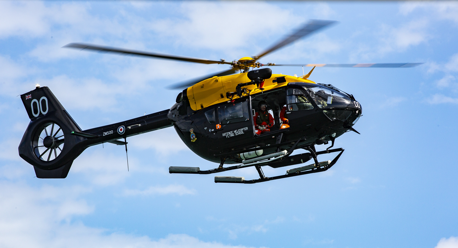 The Jupiter helicopter based at RAF Valley was able to fly over water for the first time today, working alongside a Smit Don practicing various hovering exercises above water.