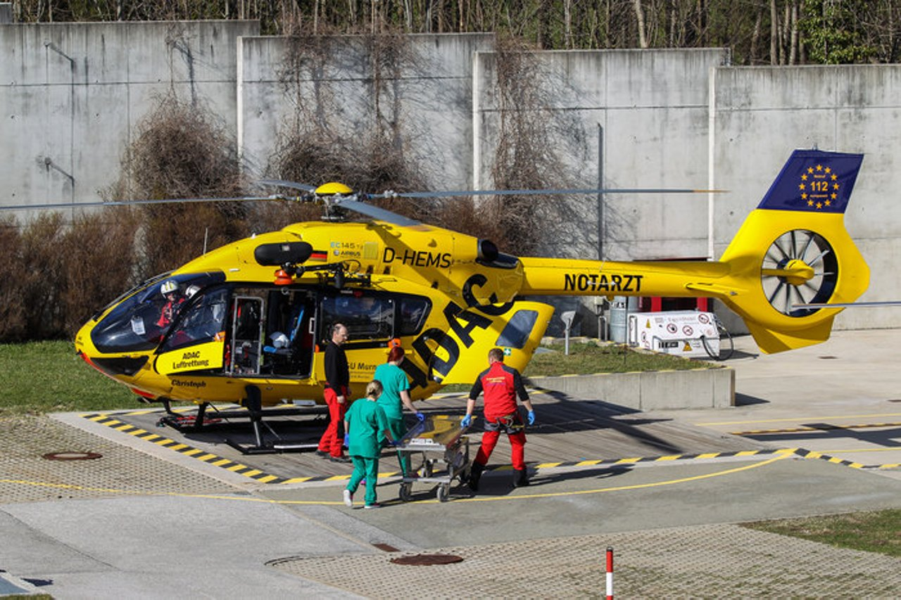 H145 EMS in service with ADAC in the Bavarian Alps