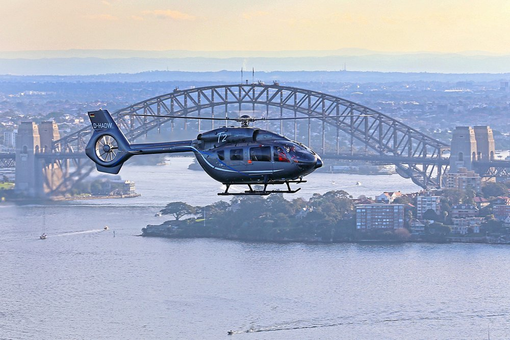 Airbus Helicopters' H145 demonstrator, D-HADW visits Sydney including the Westpac Life Saver Rescue Helicopter Service base.