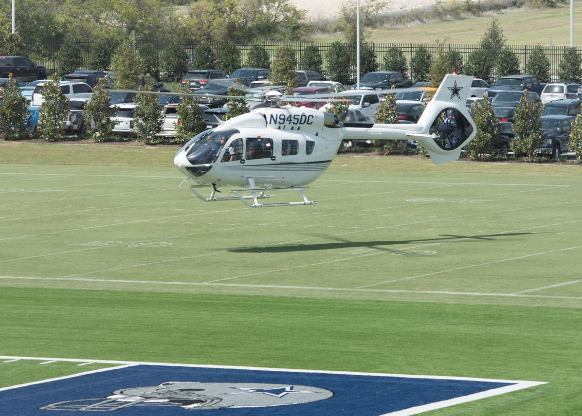 Dallas Cowboys owner receives new H145