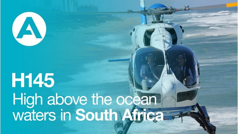 H145 Acher Aviation: High above the ocean waters in South Africa
