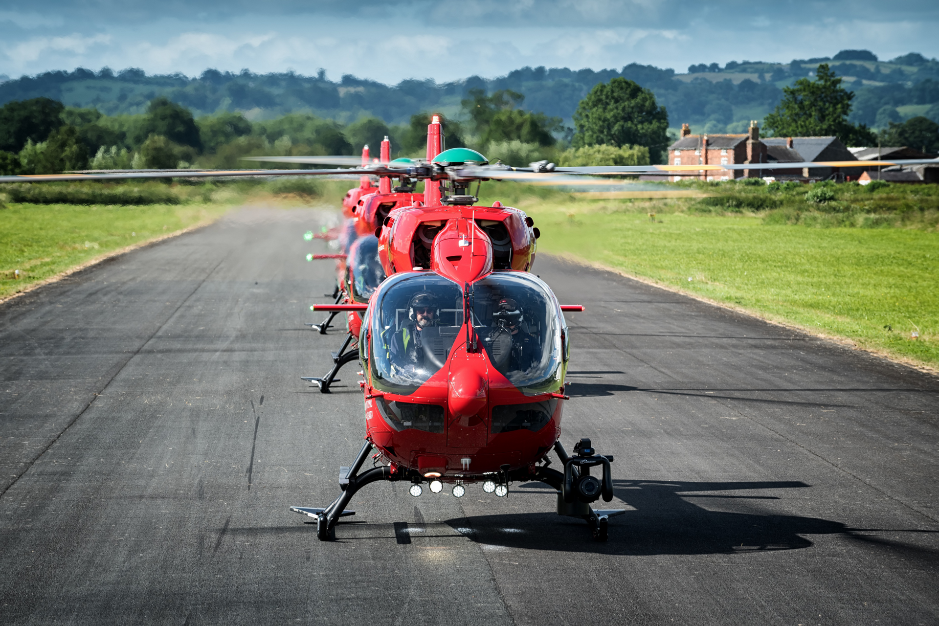 "As only the third HEMS operator in the UK to use the twin-engine H145, WAA puts their ""four dragons"" to use providing primary care services for the Welsh people."