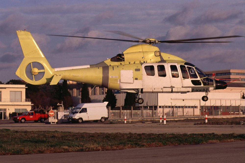 The EC155 helicopter's maiden flight was performed in 1998.