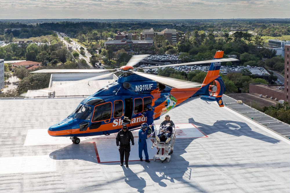 With H155, Airbus provides intensive care and rapid transportation to ShandsCair, the critical care transport system of the University of Florida Health Shands Hospital