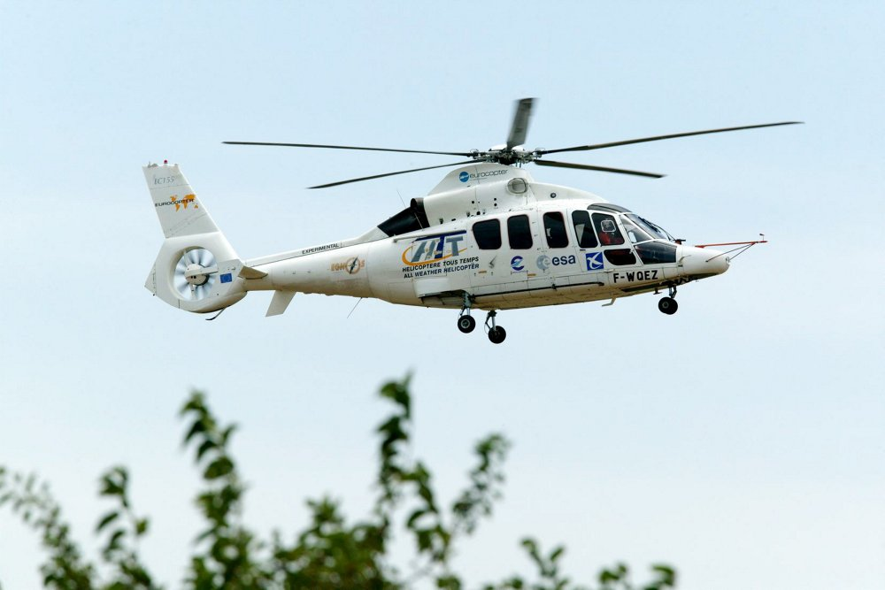The EC155 unmanned aerial vehicle (UAV) performed its first official unmanned flight in 2008.