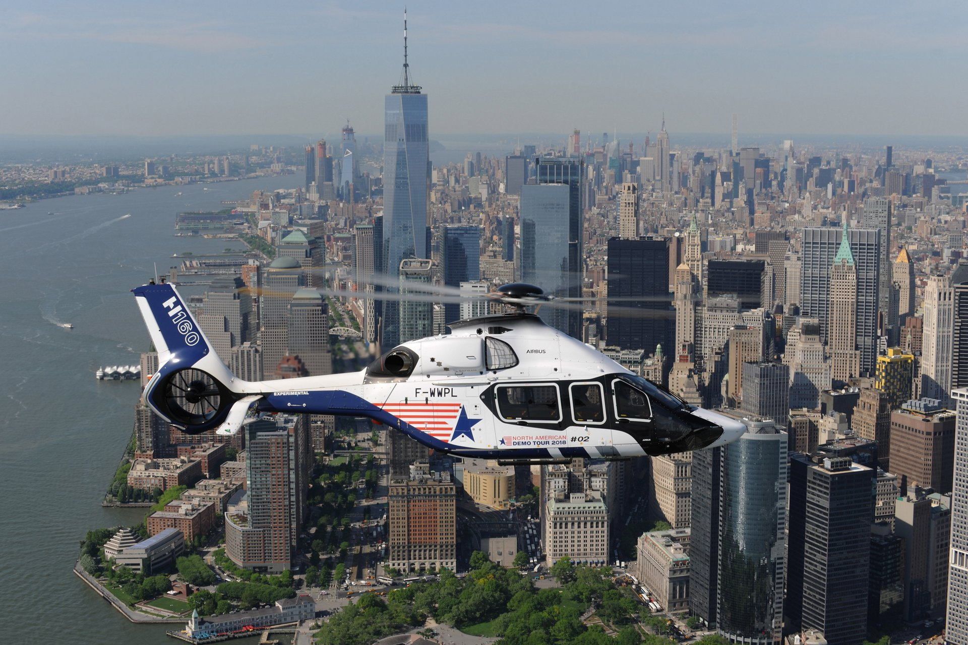 H160 Over New York