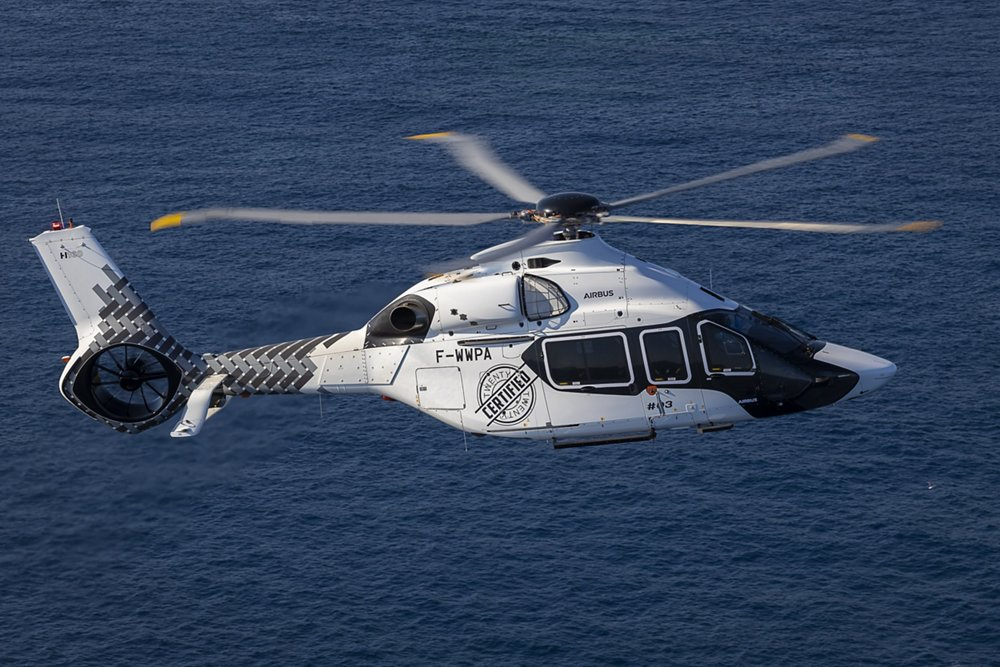 Certified H160 in flight