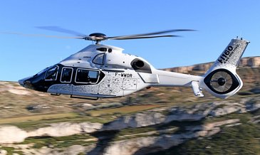 First flight of the first serial H160 in a very special livery