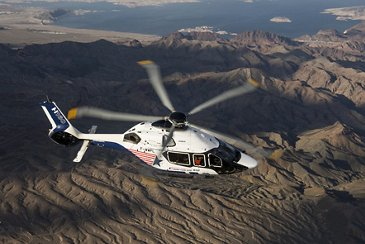 The H160 above the Grand Canyon