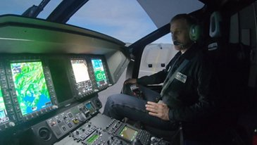 Inside Airbus' H160 full flight simulator