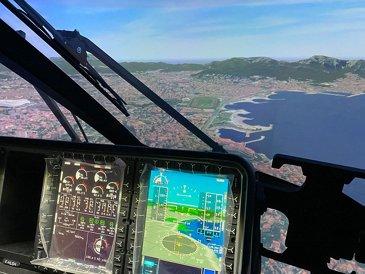 H160 full flight simulator interior