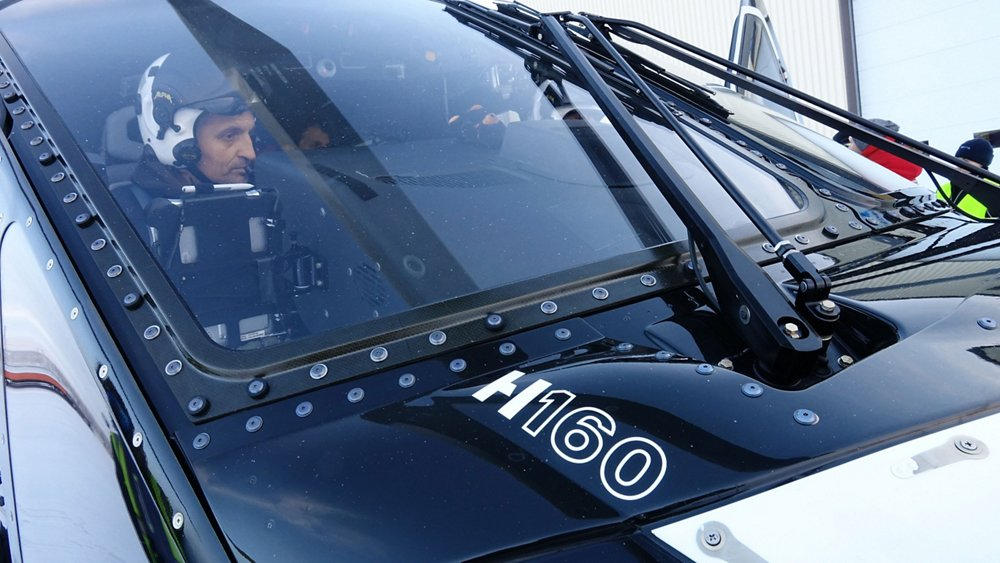 """For test pilot Olivier Gensse, the H160 full flight simulator feels """"just like"""" the actual aircraft"""