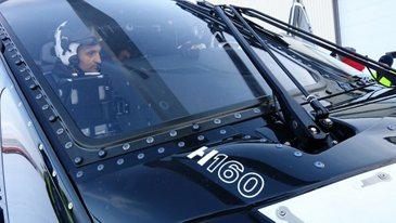 Test pilot Olivier Gensse in H160