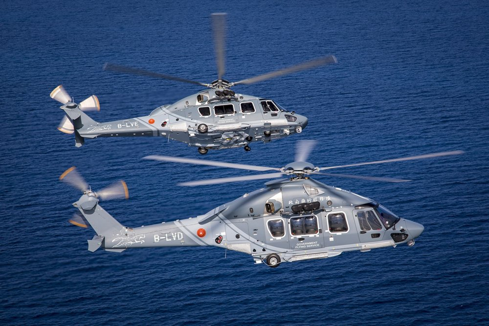 Hong Kong based Government Flying Service (GFS) has received three H175s in public services configuration, becoming the world's first operator of this new variant which enlarges the H175 mission capacity to search and rescue (SAR), emergency medical services, law enforcement, firefighting as well as land and maritime border control operations.