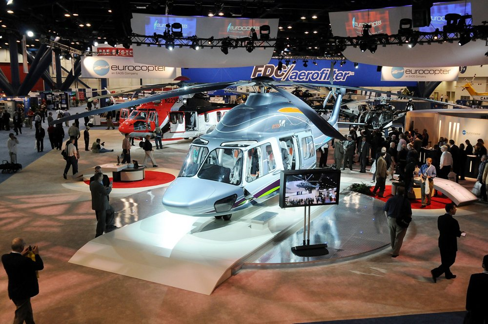 Airbus' EC175 helicopter was unveiled at the Heli-Expo 2008 trade show and exposition.