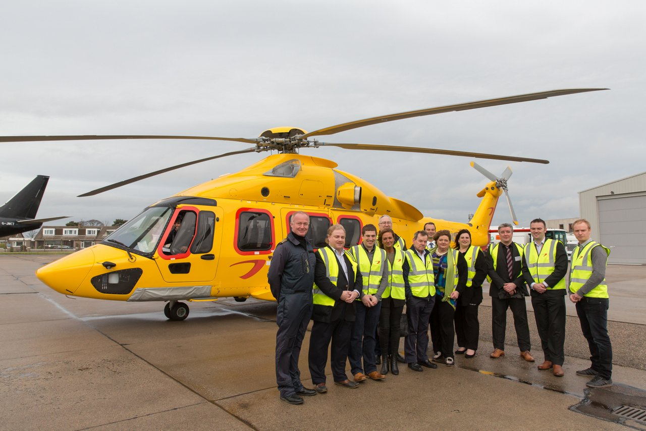 The H175 arrives in Aberdeen: NHV announces the entry into service of two H175s at their UK Aberdeen base for oil and gas operations
