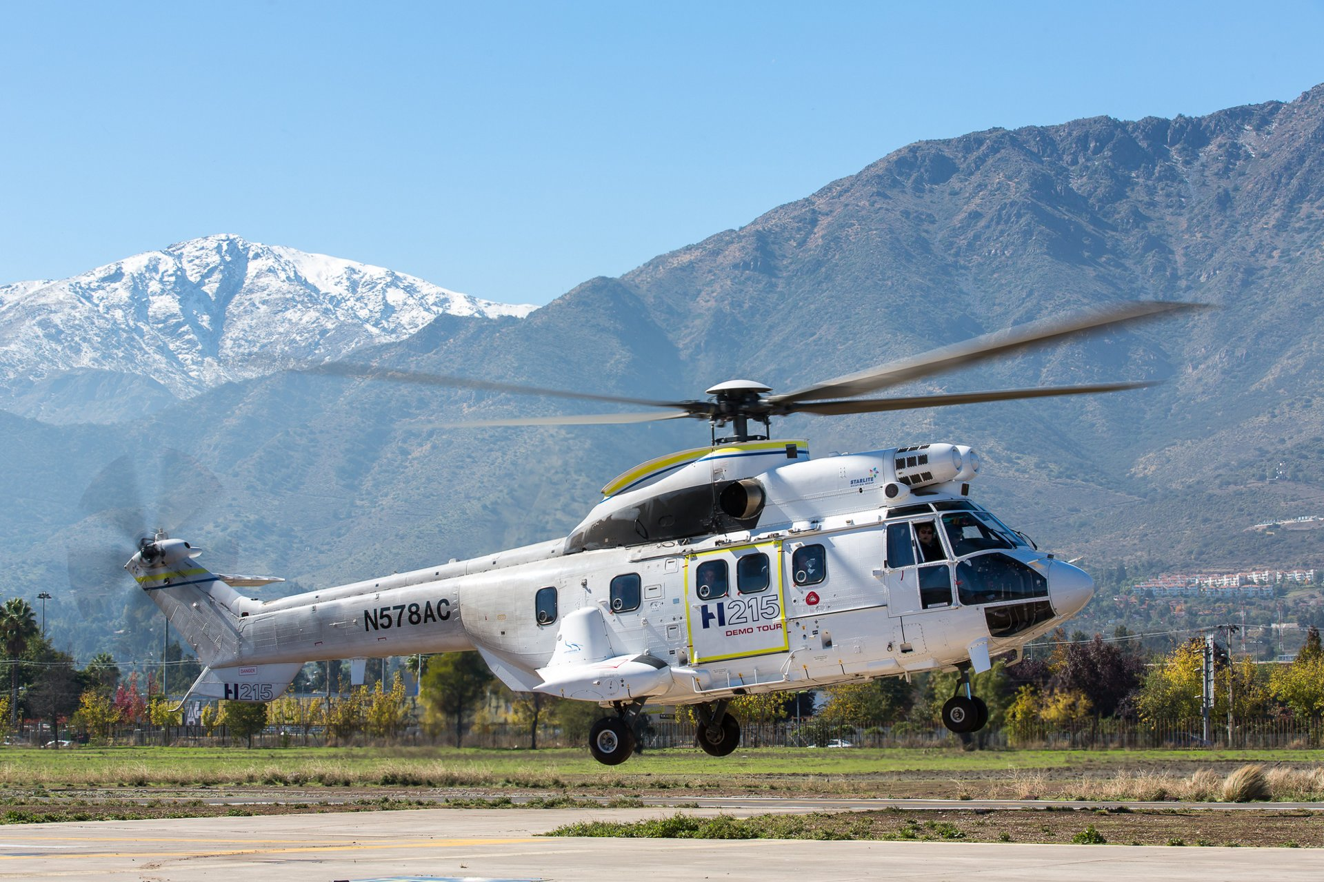 The H215 in action on its Latin America Demo Tour