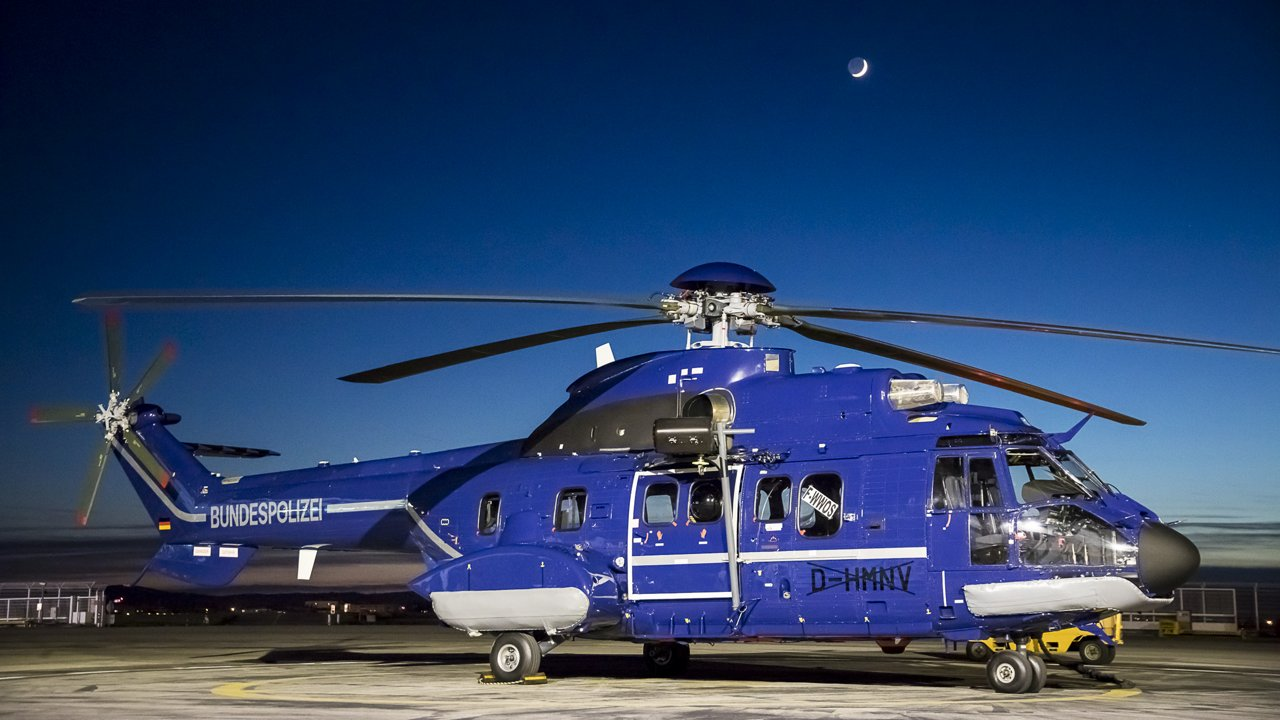 The German Federal Police (Bundespolizei) has taken delivery of three heavy H215 helicopters, with a fourth to follow in June 2019.