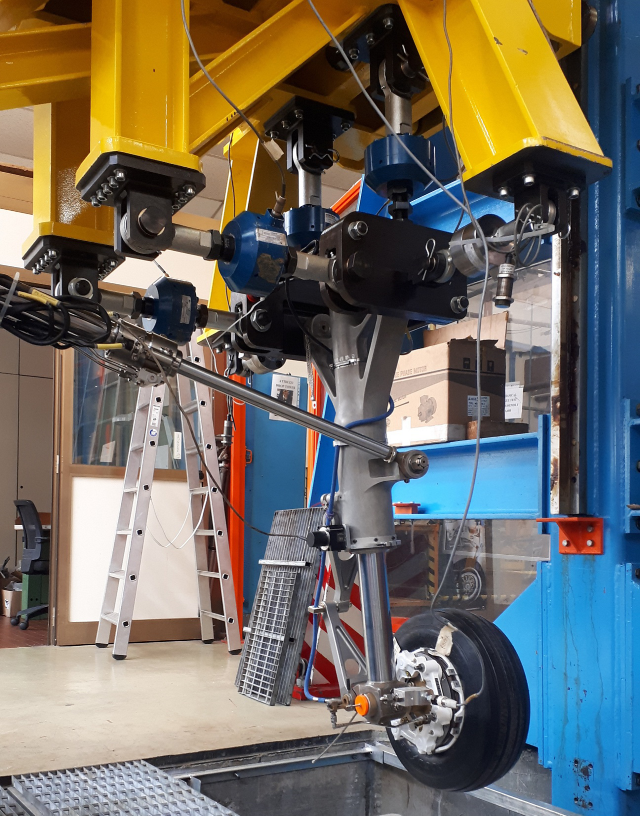 Landing gear for Airbus' Racer high-speed demonstrator is shown ready for assembly