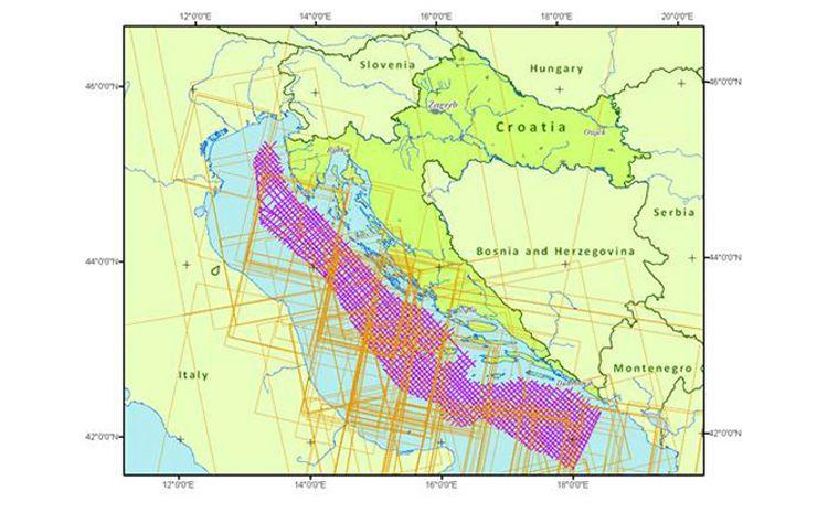 Illustation of 2D seismic data  in the Adriatic Sea