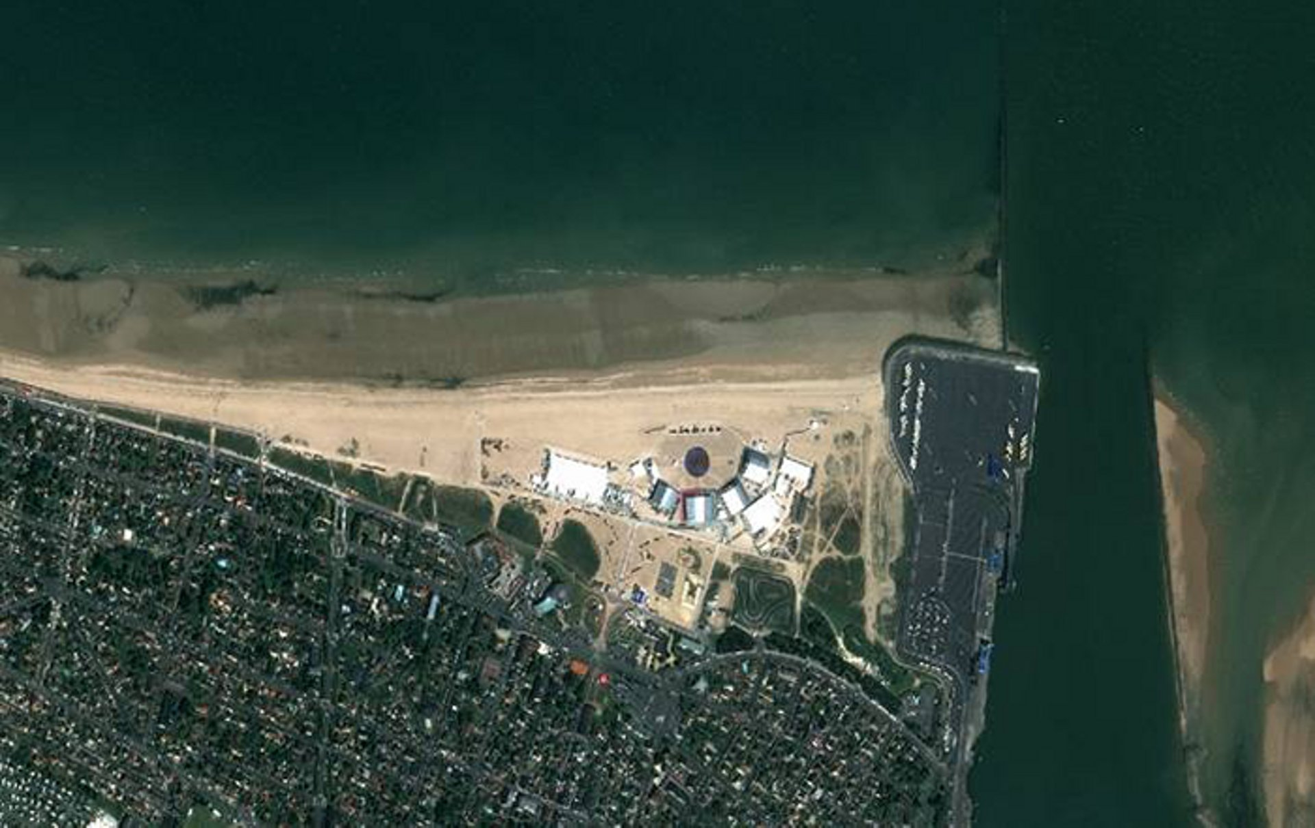 Satellite image of Normandy beach