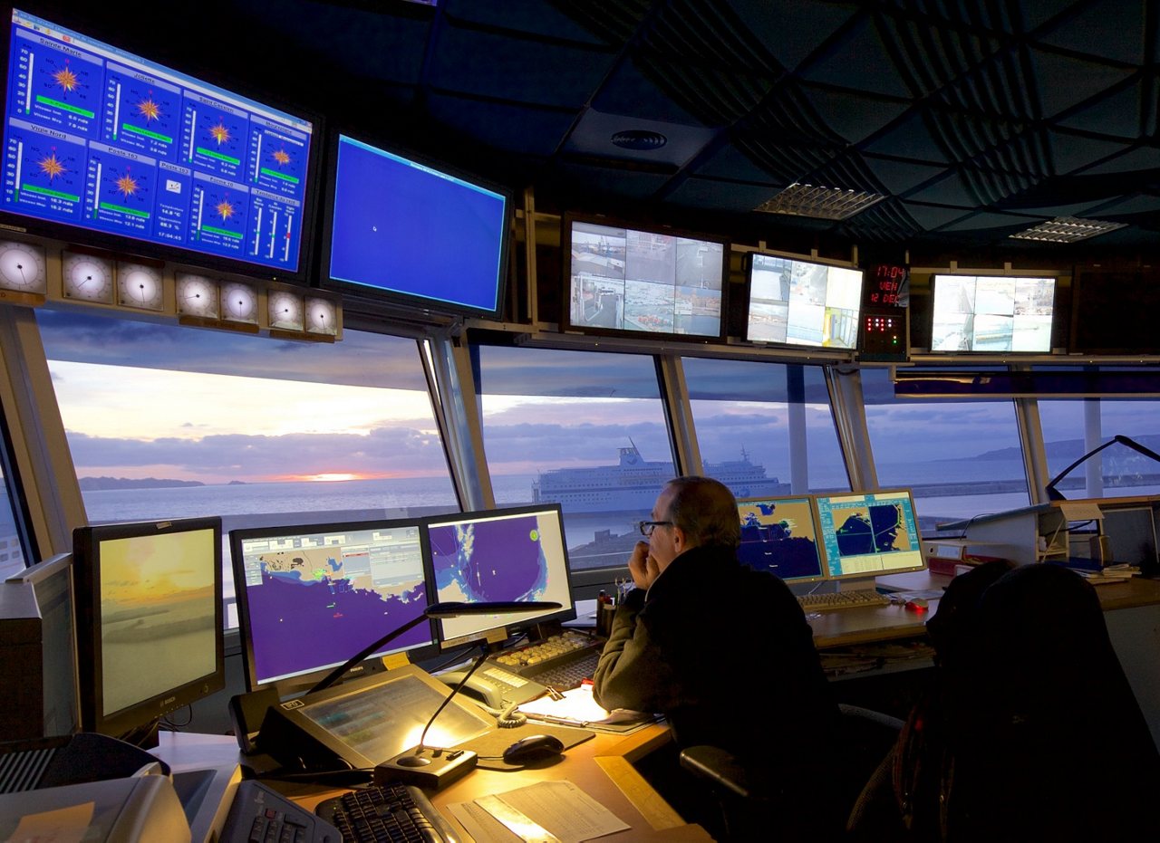 Coastal surveillance is conducted using a wide range of data presented on monitors.