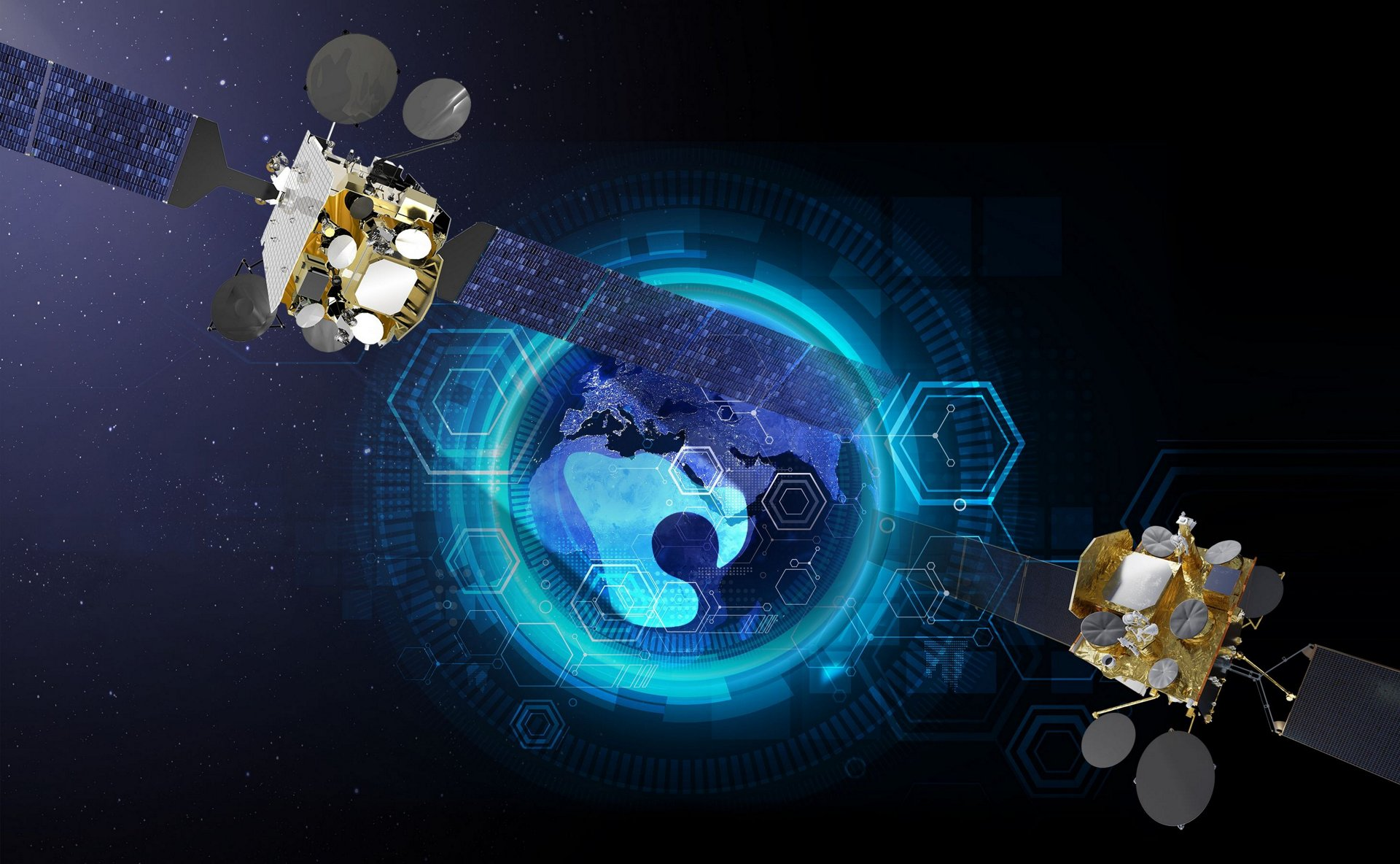 Military telecommunications services on Syracuse IV satellites