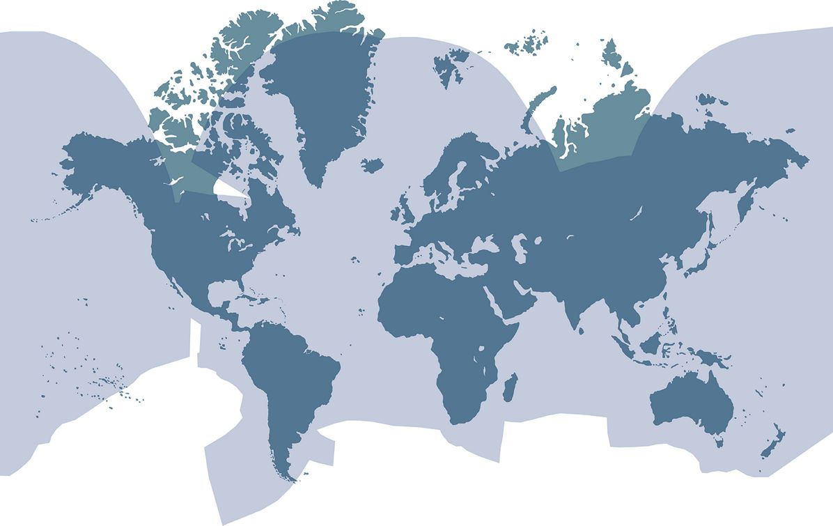World's  Ku-band coverage delivering high-speed data.