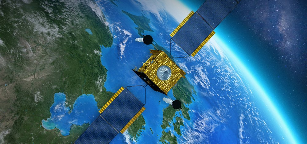 Skynet 5A Telecommunication Satellite. Artist View