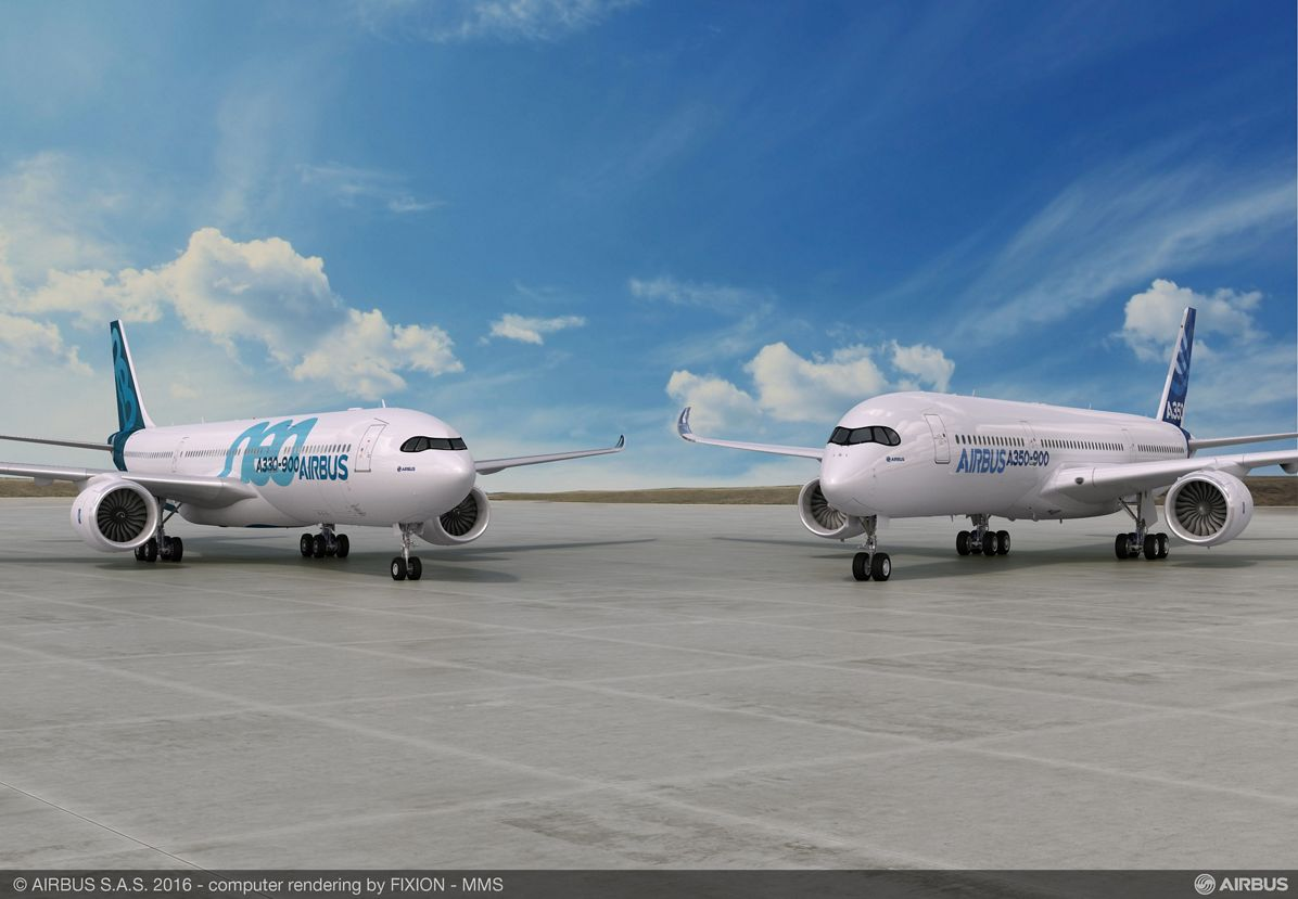 A350-900 with A330-900neo, Airbus_A350-900 and A330-900neo
