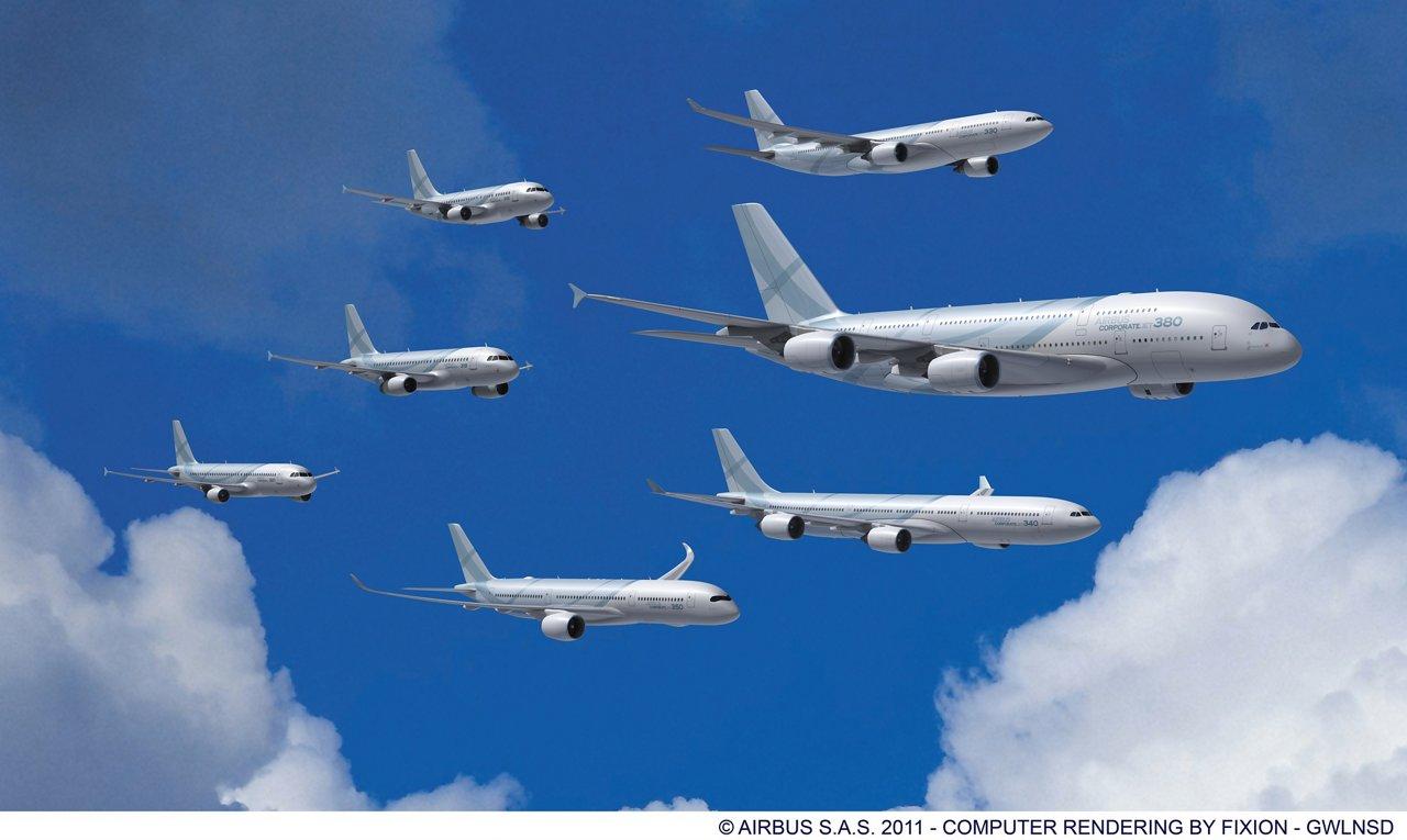 ACJ family Airbus formation flight.jpg