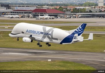 Airbus 50th anniversary - Formation flight – BelugaXL lands