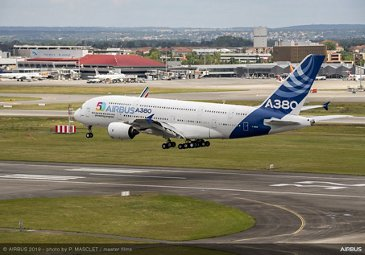 Airbus 50th anniversary - Formation flight – A380 completes flight