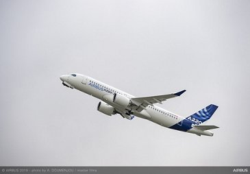 Airbus 50th anniversary - Formation Flight - A220-300 Taking off